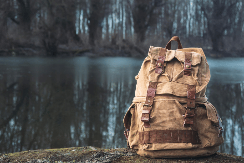color brown travel backpack
