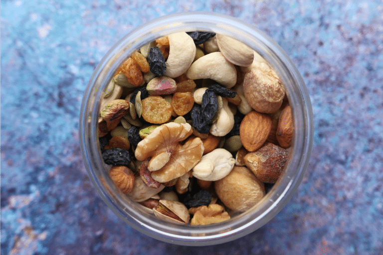 mix of nuts in a jar