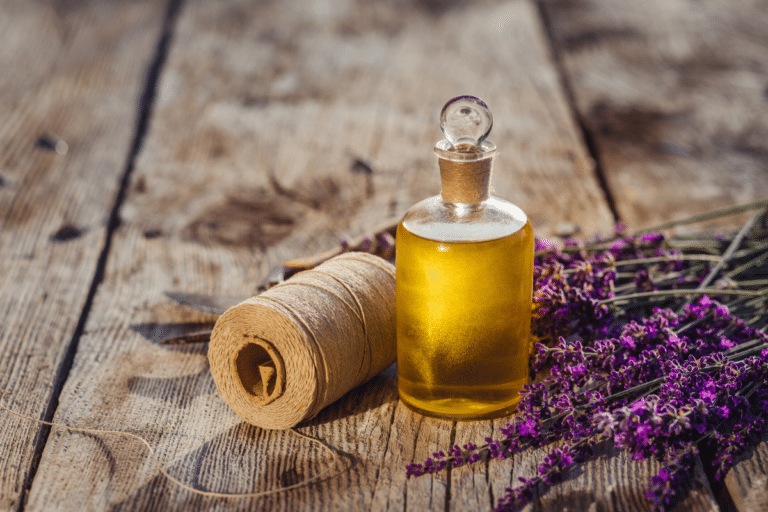 oil-based perfume and lavender