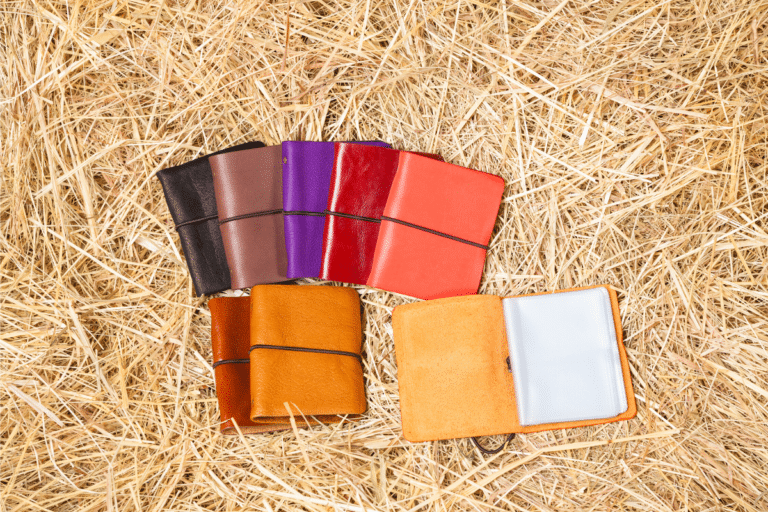 colorful leather card holder