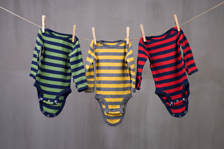 colorful stripes onesie