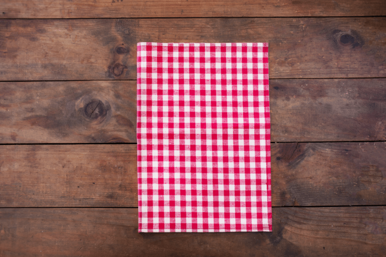 checkered print place mat