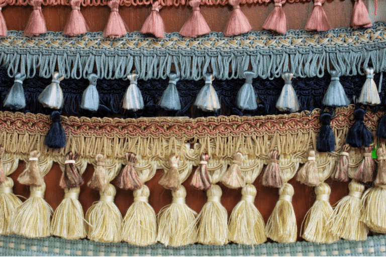 hand-made tassel wall hangings